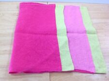 Designers Guild Pillow Cover Linen Pinks Green Trim Multi 27 X 17 Home Decor