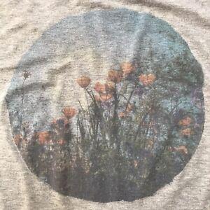 American Eagle Soft & Sexy T-Shirt Medium Flowers Graphic Tee Dolman Cottagecore