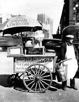 "1936 Hot Dog Stand, Manhattan, NYC Vintage Photograph 8.5"" x 11"" Reprint"