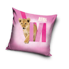NEW ANIMAL PLANET LION pink cushion cover 40x40cm