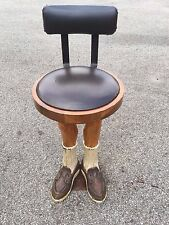 VERY Unique Custom Wood Carved Swivel Top Leg Bar Stool for Restaurants and Home