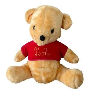 Vintage Old Winnie The Pooh Stuffed Plush Teddy Bear Walt Disney Distributing Co