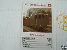 24 EK LOKS H3 SBB SWITSERLAND SPB ELECTRISCH TRAIN TREIN KWARTET KAART,
