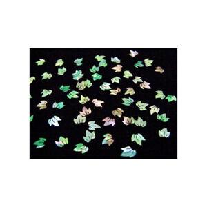 Ca.90 Perlmutt Einleger Muschel Inlays Ornament Blätter Schimmer Perl PMF-1
