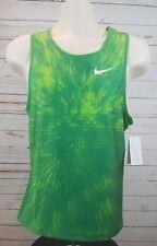 Nike Track Tight Tank Womens Medium Green Running Compression Singlet