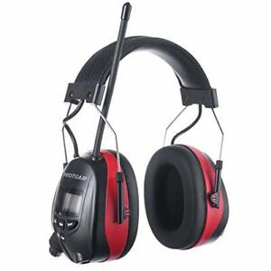 Bluetooth AM FM Radio Noise Reduction Safety Ear Muffs with Rechargeable, Red