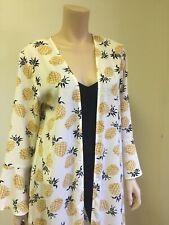 Cardigan Kimono  Pineapple Print Women Long Fashion Dress Long Bell- Sleeve