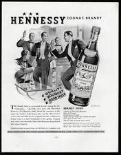 1938 Vintage Print Ad 30's HENNESSY cognac brandy tuxedo man style fashion