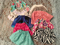 """Lot of Doll Clothes Fits 15"""" Bitty Girl Baby or Twins Doll Skirts 10pcs"""