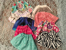 "Lot of Doll Clothes Fits 15"" Bitty Girl Baby or Twins Doll Skirts 10pcs"