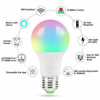 WiFi Smart Light Bulbs Dimmable LED E27 Lamp MUSIC & MIC For Google Home /Alexa