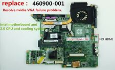 HP DV6000 DV6700 INTEL 965 Motherboard +cpu+heatsink, replaces AMD 460900-001, A