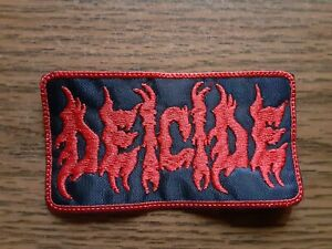 DEICIDE,SEW ON RED WITH RED EDGE EMBROIDERED PATCH