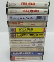 10 Country Music Cassette Tape Lot (Lot 223) Garth Brooks / Hank Williams Jr.