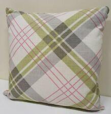Bnip Arthouse Pink & Green Tartan Cushion 45x45cm