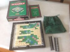 Travel Scrabble De Luxe Spears Game Vgc Please Note 1 X A Missing
