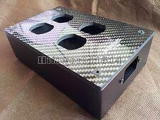HIFI Carbon Fiber AC Power Distributor Aluminum box 4 outlet Chassis