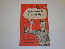 1957 What Makes an Airplane Fly? Booklet by Captain Comet Jet Ace 18pgs. S2490