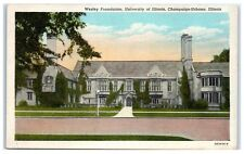 1943 Wesley Foundation, University of Illinois, Champaign-Urbana, IL Postcard