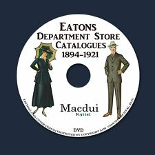 Eatons Department Store Catalogues 1894-1921 PDF 13 Vintage E-Books on 1 DVD Fas