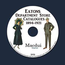 Eatons Department Store Catalogues 1894-1921 PDF 13 Vintage E-Books on 1 DVD Fas