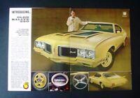 1970 Oldsmobile Cutlass 442 Ralleye 350 *Original*GM vintage car ad print gift