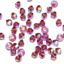 SCB2174 Fuchsia AB2X Pink 3mm Faceted Xilion Bicone Swarovski Crystal Beads 48pc