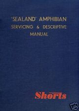 SHORT SEALAND SA.6 HISTORIC MANUAL RARE SEAPLANE flying boat 1950's Period