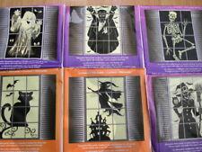 Décorations de fête pour fenêtre noir pour la maison Halloween