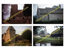 MRSAAA-A03 Set of 4 Photos of Historic English Churches Taken in the 1960s