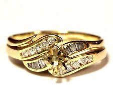 14k yellow gold .33ct SI1 H diamond engagement semi mount ring wrap 5.4g