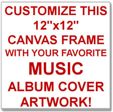 """Customize this 12""""x12"""" Canvas Print with Your Favorite Music Album Cover Artwork"""