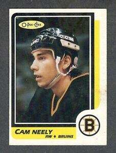 1986-87 CAM NEELY #250 NM OPC * Key Bruins HALL OF FAME Star 3rd NHL Hockey Card