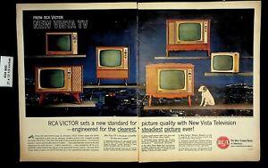 1961 New RCA Victor TV Vintage Print Ad 19210