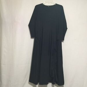 Jason By Comfy USA Black Ruched Lagenlook Dress Black Stretch Fabric Size Med