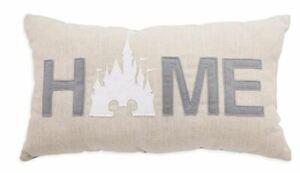 Disney Parks Homestead Mickey Cinderella Castle Home Throw Pillow Plush NEW