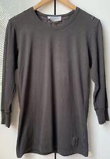 S Yves Saint Laurent YSL Rive Gauche Vintage T Shirt Tee Gray Women logo Top