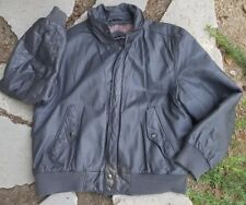 Vintage Leather Jacket Members Only Gray Leather