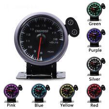 """2.5""""60mm 7 Color Display Voltmeter Car Voltage Volt Gauge Panel Meter Dial LED"""