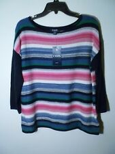 Chaps Ladies Pullover Sweater Multi Color Casual Loose Fit Size S NWT MSRP $69
