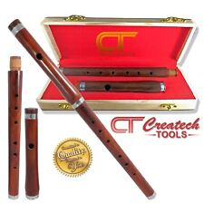 """Traditional Irish """"BB"""" Wooden flute with Hard wood case, Rosewood,Two Parts, 15"""""""