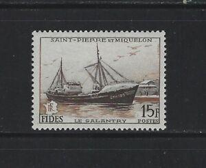 ST. PIERRE & MIQUELON - #350 - LE GALANTRY MINT STAMP (1956) MNH FISHING