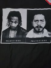 Post Malone Tyla Yaweh Mug Shot Official Tee Shirt Size Sm Posty