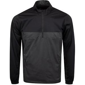 Nike Shield Victory 1/2 Zip Lightweight Golf Jacket Black/Grey Men's Size - 2XLT