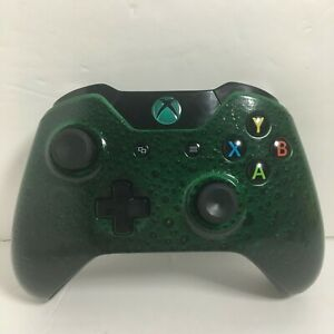 Custom Microsoft Xbox One Controller Green Black 3D Bubble Edition Model 1537