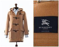 Women's BURBERRY London Wool Duffle Coat Jacket Beige Size US 4 UK 8 S