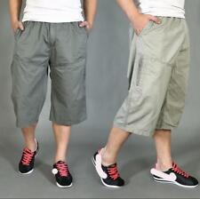 Men's Casual Loose Cotton Cargo Shorts Work Outdoor Camo Pants Army Trousers