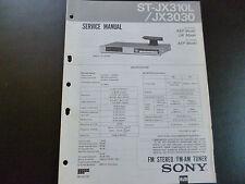 Original Service Manual Sony Estéreo FM-el sintonizador st-jx310l/jx3030