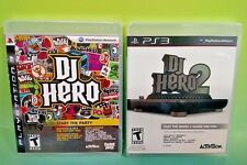 DJ Hero 1 + 2 Games only! Sony PlayStation 3 PS3  Games - Tested Works