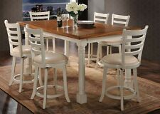 Acme Furniture Wilton 7 Piece Antique Cream Counter Height Dining Set 71440